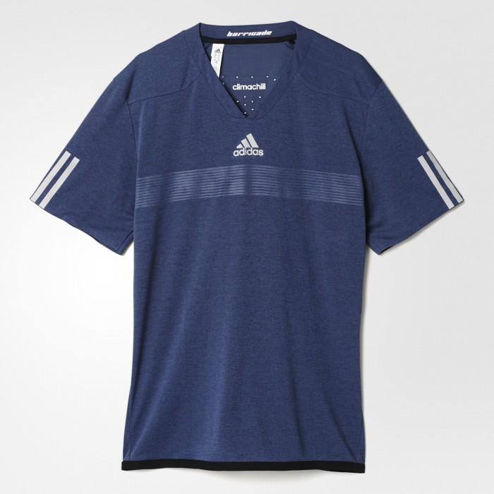 Мужская теннисная футболка Adidas Barricade Uncontrol Climachill
