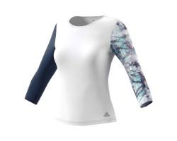 Женская теннисная футболка Adidas  Advantage 3/4 Sleeve Top