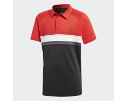 Детская теннисная футболка-поло Adidas Colorblock Club