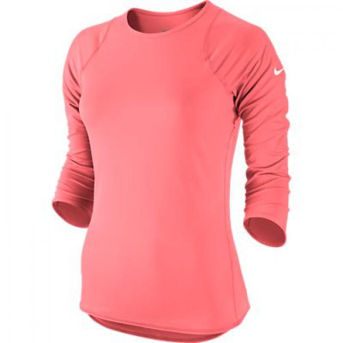 Женское теннисное поло Nike BASELINE 3/4 SLV TOP