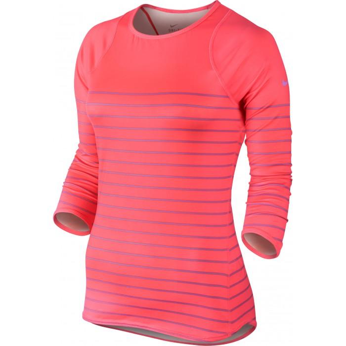 Женский теннисный лонгслив Nike PRINTED BASELINE 3/4 TOP