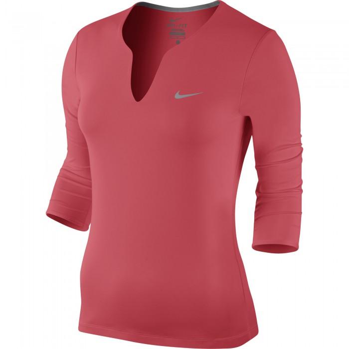 Женский теннисный лонгслив Nike PURE LS TOP