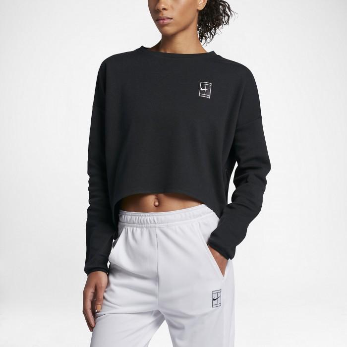 Женская теннисная футболка с длинным рукавом Nike Court
