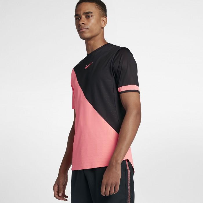 Мужская теннисная футболка с коротким рукавом Nike Court Zonal Cooling Challenger