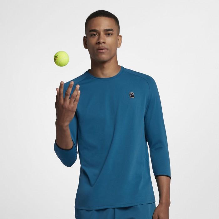 Мужская теннисная футболка с рукавом 3/4 Nike Court Dry Challenger