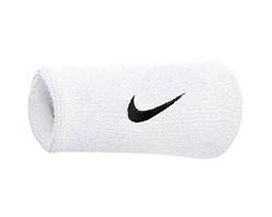 Напульсники Nike SWOOSH DOUBLEWIDE WRISTBAND (белые)