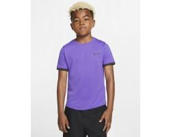 Теннисная футболка с коротким рукавом для мальчиков школьного возраста Nike Court Dri-FIT